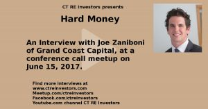 Hard Money Interview with Joe Zaniboni